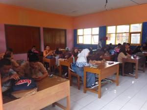 Suasana siswa pada saat sosialisasi STMIK Tasikmalaya